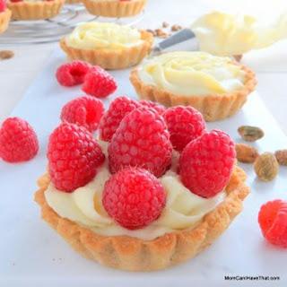 Pistachio Raspberry Rose Tartelettes