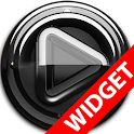 Poweramp widgetpack Black Glas icon