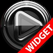 Poweramp widgetpack Black Glas