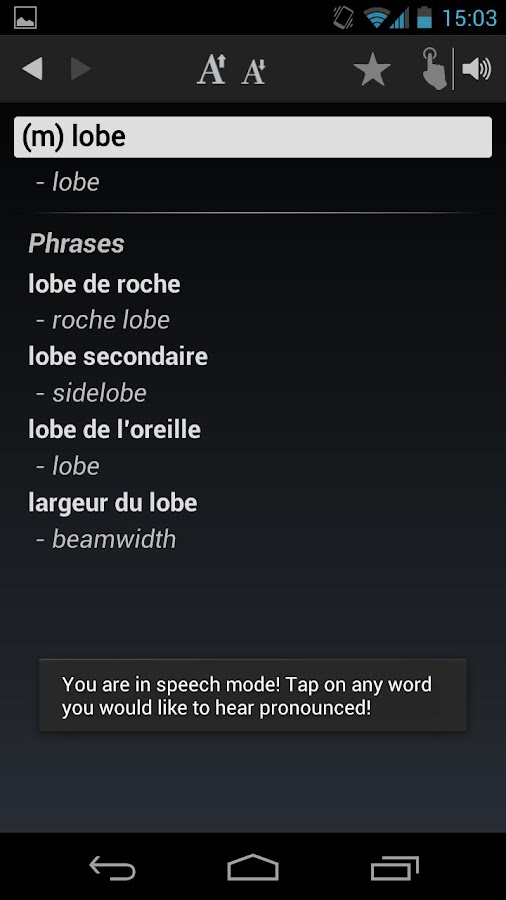 Free Dict French English- screenshot