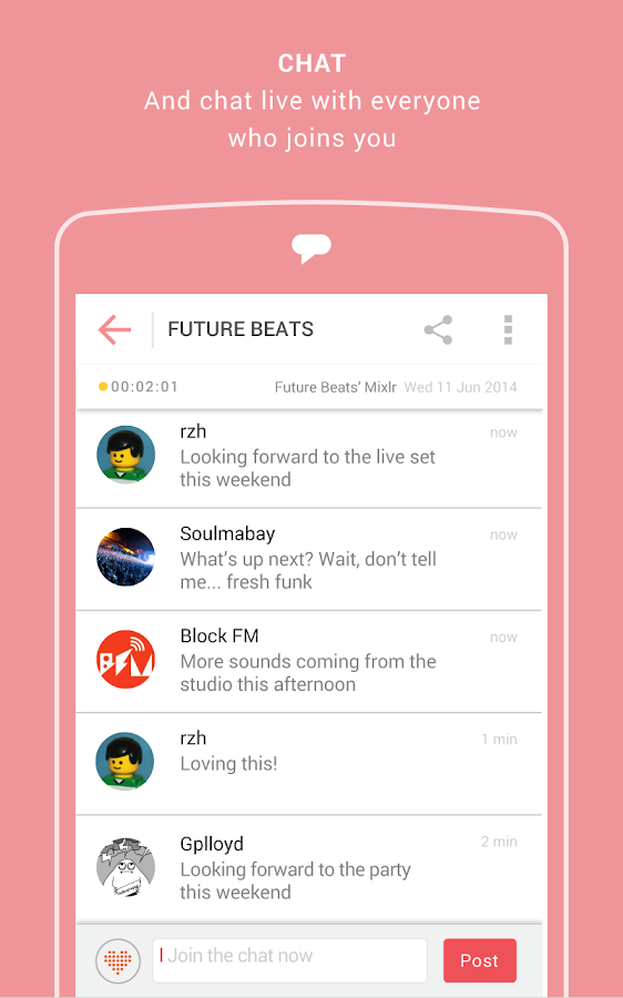 Mixlr - Social Live Audio- screenshot