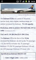 Screenshot of Aircraft Information Guide
