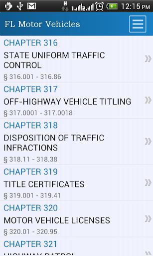 FL Motor Vehicles Code