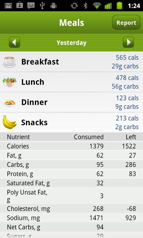 Calorie Counter PRO MyNetDiary - screenshot