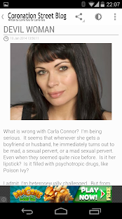Coronation Street Blog- screenshot thumbnail