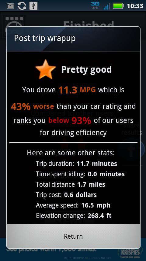 Open Road: Fuel Economy Basic - screenshot