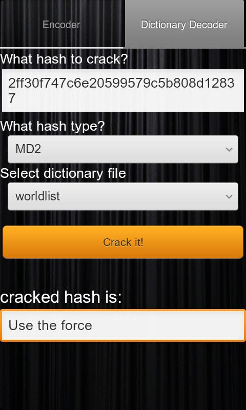 Hash Decrypt- screenshot