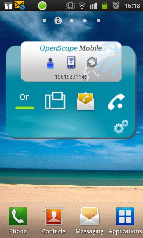 OpenScape Mobile- screenshot