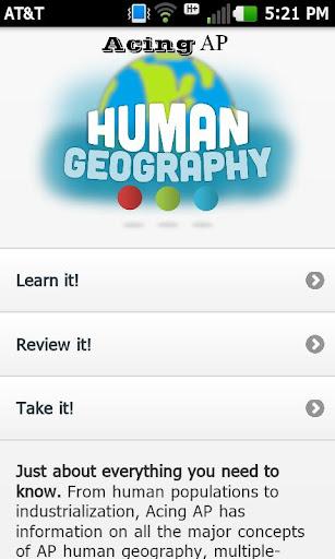 Acing AP Human Geography