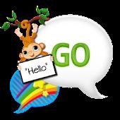 GO SMS THEME|RainbowSkyMonkey