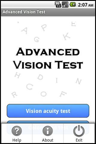 Advanced Vision Test - screenshot