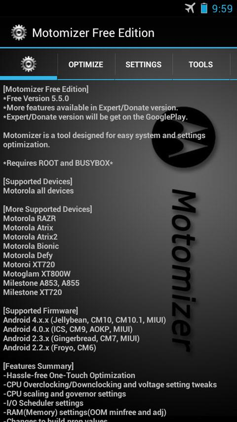 Motomizer Free Edition- screenshot