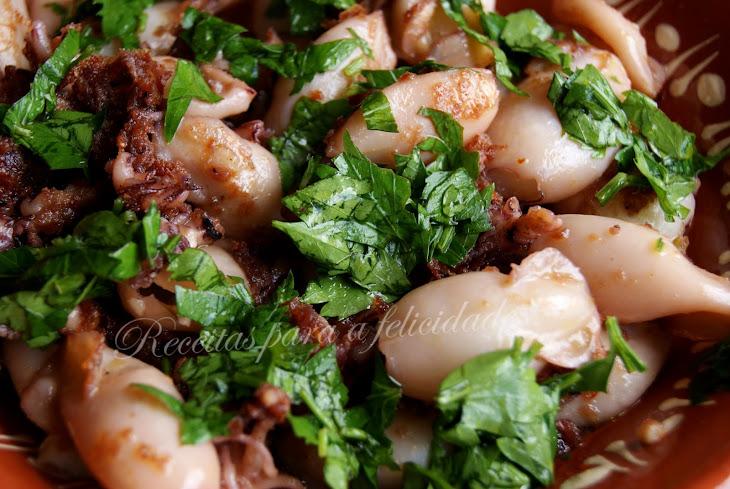 Pan Seared Garlic Squid Recipe