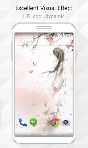 Flying Petals Live Wallpaper