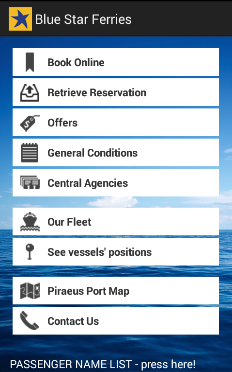 Blue Star Ferries - screenshot