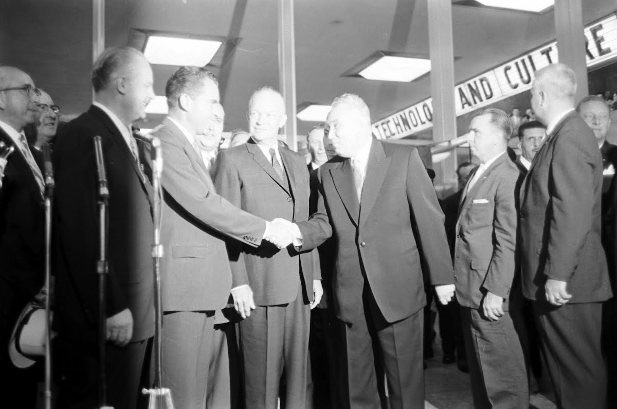 Ike Visits Soviet Exhibition In New York City