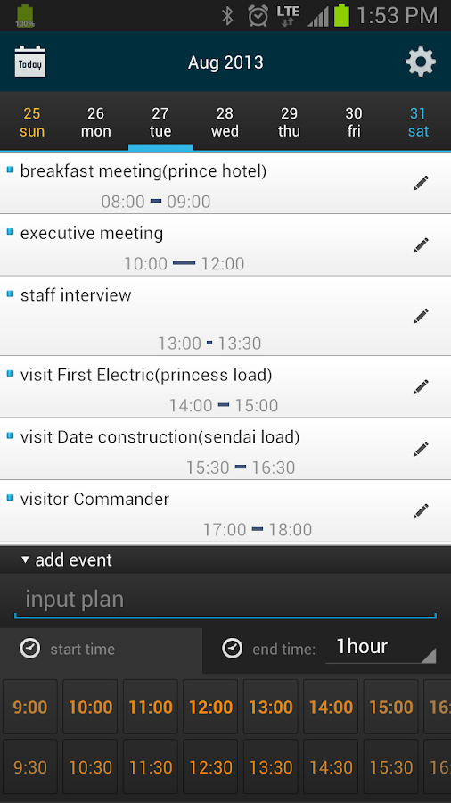 Fast Scheduler/Calendar - screenshot