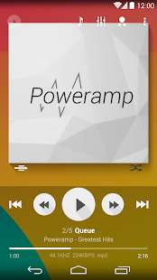 Poweramp skin Flat Transparent- screenshot thumbnail
