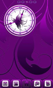 Royal Purple Clock- screenshot thumbnail