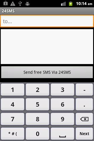 Free world wide sms sender