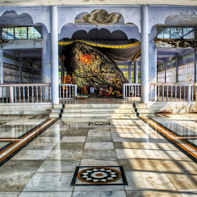 WORSHIP OF HUGE ROCK by Anand Lepcha - Buildings & Architecture Places of Worship ( temple, westbengal, rock, inida, nikon, worship, darjeeling, building, interior )