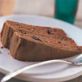 Applesauce-Raisin Cake with Caramel Icing.