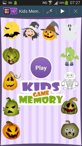 Halloween Memory Game For Kids