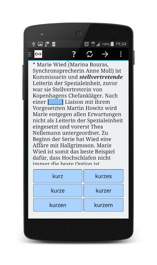 Unlimited German Practice- screenshot