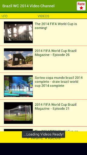 Brazil WC 2014 Video Channel
