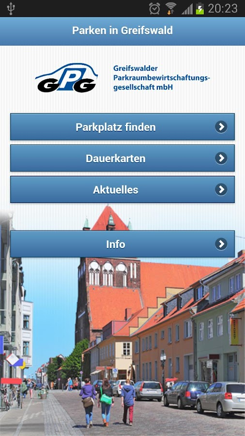 Parken in Greifswald- screenshot