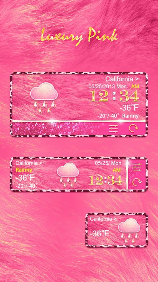 LUXURYPINK THEME GO WEATHER EX - screenshot