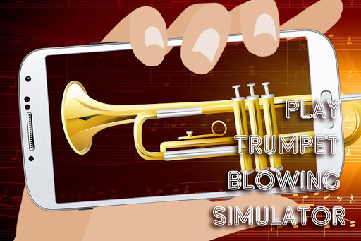 Play trumpet blowing simulator