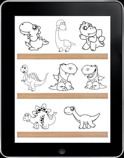 恐龍著色遊戲