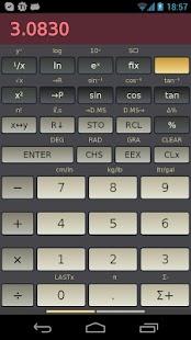 HP-45 scientific calculator - screenshot thumbnail
