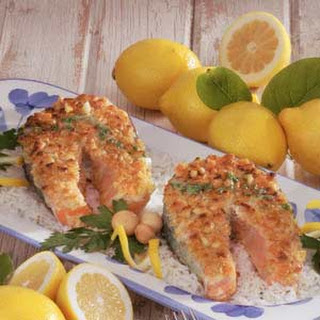 Macadamia-Crusted Salmon.