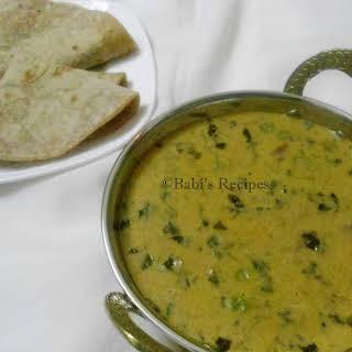 Methi Mattar Malai   Green Peas and Fenugreek Leaves in Cream Sauce   Side Dish for Roti/Naan.