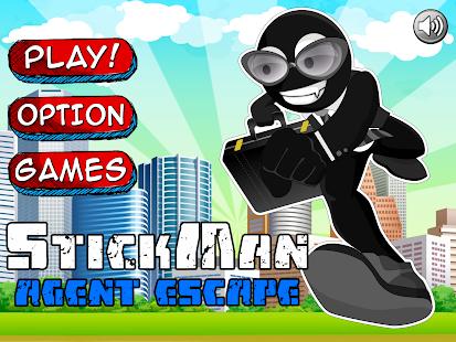 Agent Escape Stickman Run