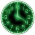 Green Glow Code Clock Widget logo
