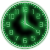 Green Glow Code Clock Widget