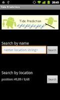 Screenshot of Tide Prediction