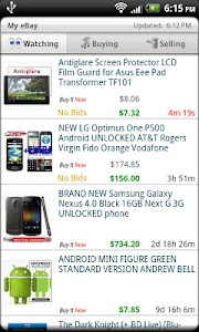Droid Auctions for eBay AdFree screenshot 4