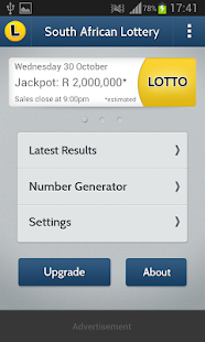 SA Lotto & Powerball Results - screenshot thumbnail