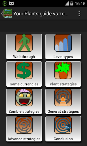 Plants Guide vs zombies2