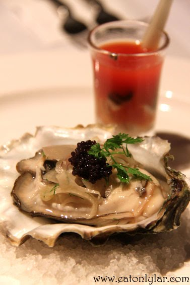 Fresh Canadian Oyster served with pernod pickled fennel and