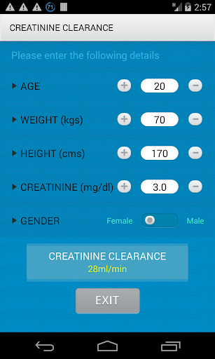 Creatinine Clearance Cal