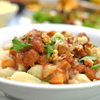 Sage & Apple Butter Pasta Sauce with Gnocchi.