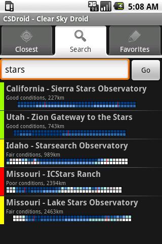 Clear Sky Droid (donate)- screenshot
