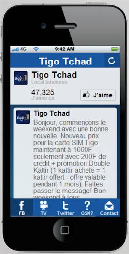 Tigo Tchad Social Media