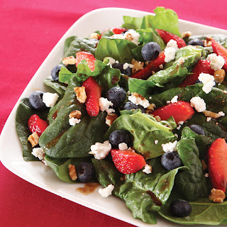 Mega Berry Antioxidant Spinach Salad.