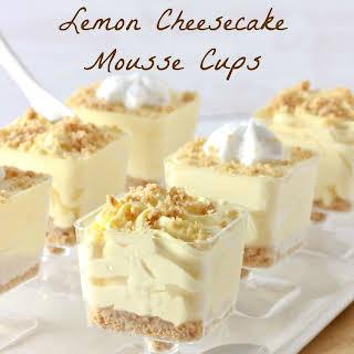 No-Bake Lemon Cheesecake Mousse Cups.